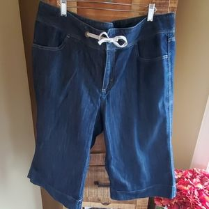Merona wide leg denim capris pants Size 18